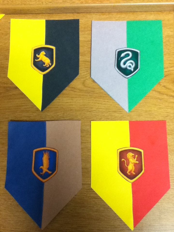 Harry potter door decs. Asked each resident which house they belong to