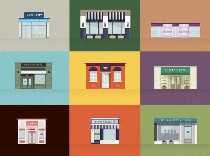 Stores #flatdesign #flat #illustration