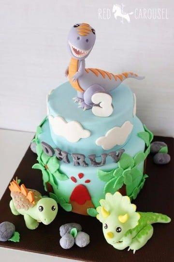 tortas de dinosaurios infantiles faciles
