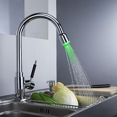 Solid Brass Kitchen Tap With Color Changing LED Light Http://www.plumpinguk Part 35
