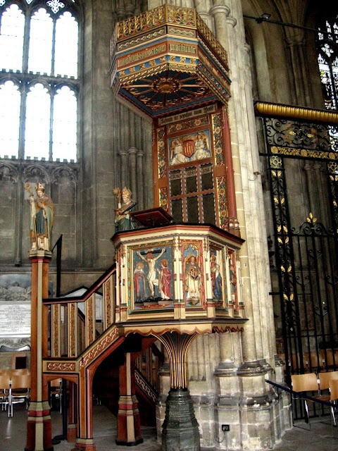 The pulpit - Canterbury Cathedral, Canterbury, Kent