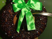 Wianek z ziarnek kawy:)