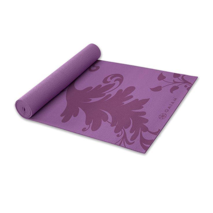 Gaiam Filigree yogamat (3mm)  Description: Een duurzaam en trendy bedrukte yogamat met filigraan patroon. Deze mat zorgt voor een stabiele houding tijdens je yoga oefeningen vanwege het antislip oppervlak. Dit product is perfect voor thuis of om in de studio te gebruiken. De mat zorgt voor de veiligheid en het comfort die je nodig hebt om een goede yogales te volgen. Het is lichtgewicht en zonder latex of schadelijk stoffen.Afmetingen : 172 x 61cm Dikte :3 mm  Price: 22.50  Meer informatie