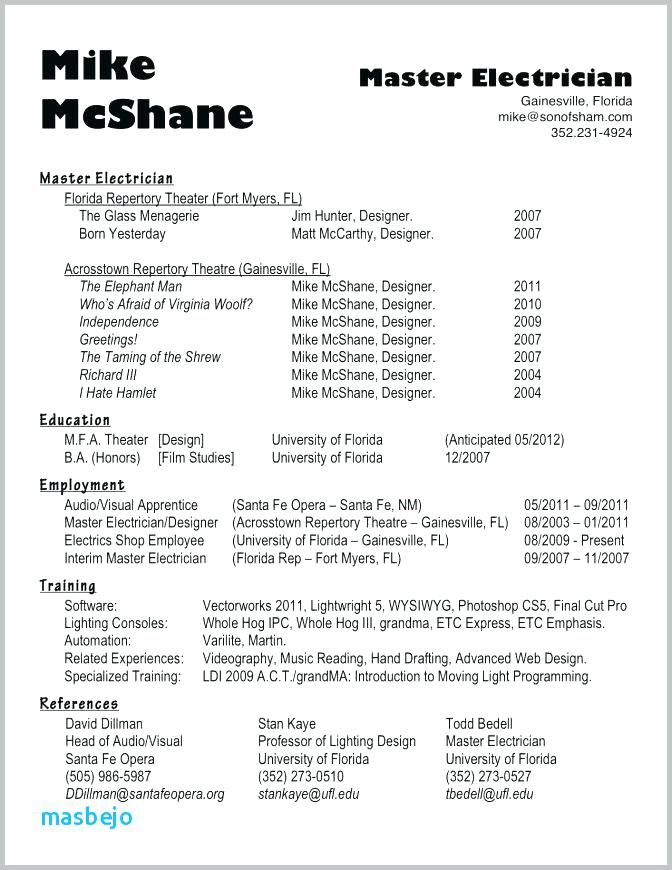 Electrician Resume Example Electrician Resume