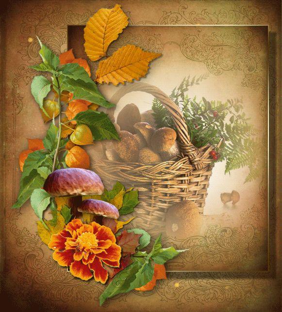 Podzimní obrázky třpyt   Tvoření