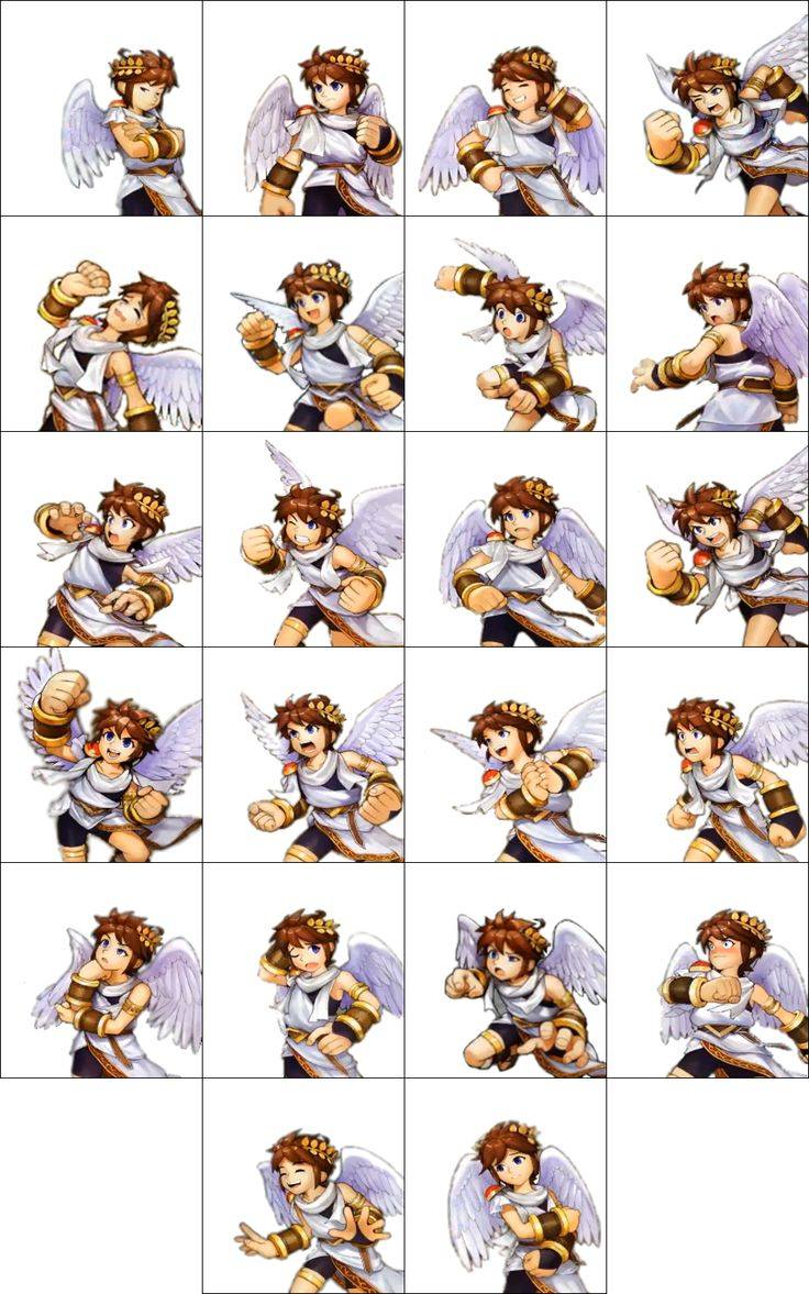This Is A Free To Use Template Of Pits Expressions From Kid Icarus Uprising It Has Fully Transparent Background So You Can Add Pit In Front P