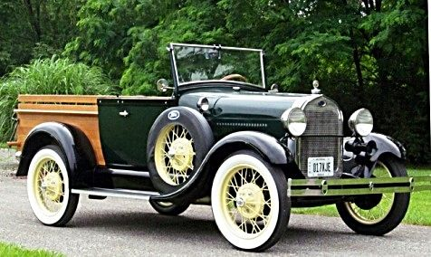 1929 Ford Model A Roadster Pickup. Photo, vehicle, transportation, oldsmobile, cool wheels, history. Pam King