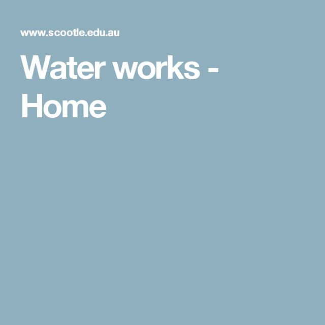 Water works - Primary connections -This comprehensive teacher resource explores how water is used, where water comes from and how to use it responsibly. Water, a precious natural resource, is investigated using a series of collaborative inquiry-based learning activities. Eight structured lessons are included, with comprehensive lesson plans, student handouts ...