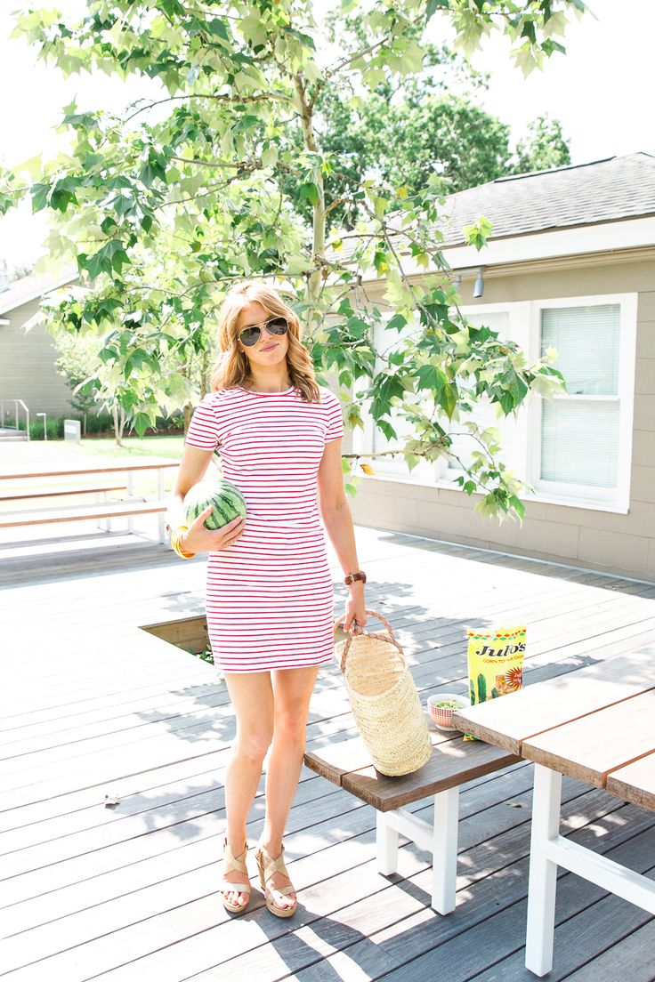 Cookout Style + @sofft Perla Wedges - A PIECE of TOAST #SofftShoes