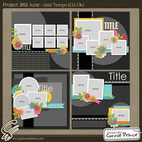 Scrapbook page layout sketches 12 pics 7 pics