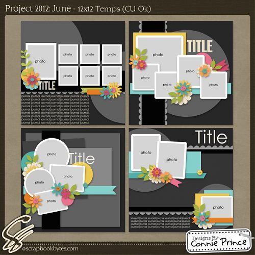 Scrapbook page layout sketches 12 pics 7 pics