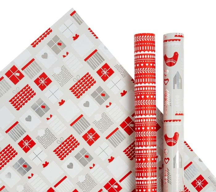 WRAPPING PAPER 3PK: CHRISTMAS