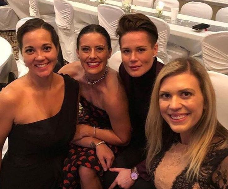 Ali Krieger And Ashlyn Harris Matching Rings