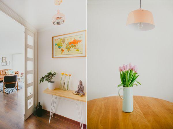 Nuestras flores en el hometour de Depto51 -Marcia Pérez y Manuel Chavarría, pediatra e ingeniero #home #deco #flowers  #azahar Fotos por Sebastian Milla