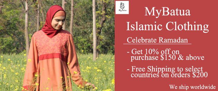 Ramadan-Eid Abaya Collection 2013 | MyBatua.com photo  MyBatua.com- Islamic Clothing for Men & Women -Buy Modest designer Ramadan-Eid collection of Islamic clothing online at MyBatua.com. -MyBatua brings stylish and comfy clothes for men and women- thobe, galabiyya, abaya, jilbab, hijab, islamic tunic at acceptable prices. For more info https://www.mybatua.com.