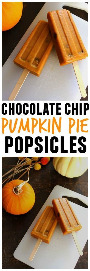 It's like pumpkin pie, but a popsicle, and with chocolate chips. These will have you dreaming of Autumn!