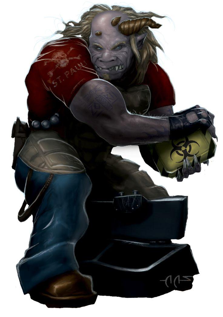 Shadowrun Troll by raben-aas on deviantART