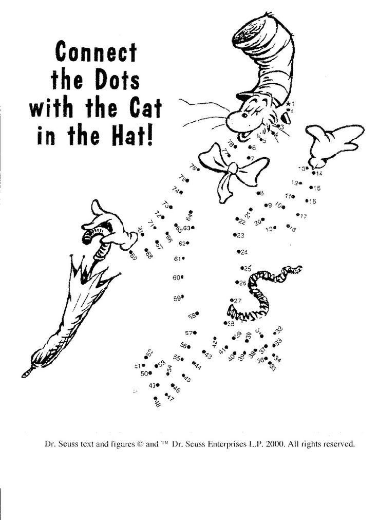 Dr Seuss Dot to Dot Math Activities Pinterest