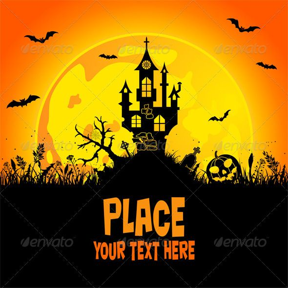 Halloween background  #GraphicRiver         Halloween background with castle, element for design, vector illustration     Created: 8September11 GraphicsFilesIncluded: VectorEPS #JPGImage Layered: No MinimumAdobeCSVersion: CS Tags: autumn #bat #card #castle #decoration #design #floral #flower #grass #halloween #home #illustration #invitation #jacko& #x27;lantern #moon #pumpkin #silhouette #tombstone #tree #vector #web