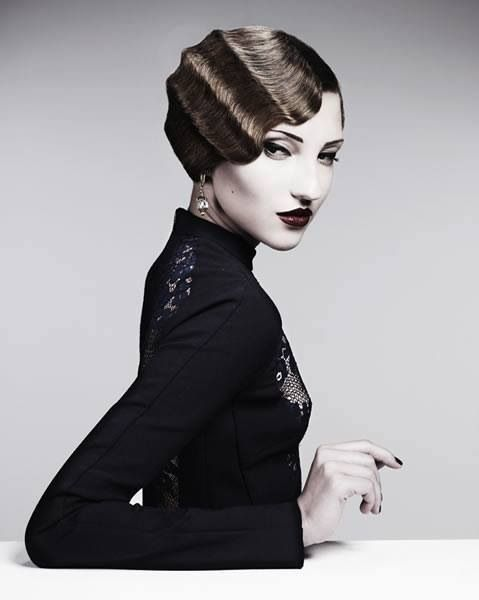 Finger waves elegant and timeless