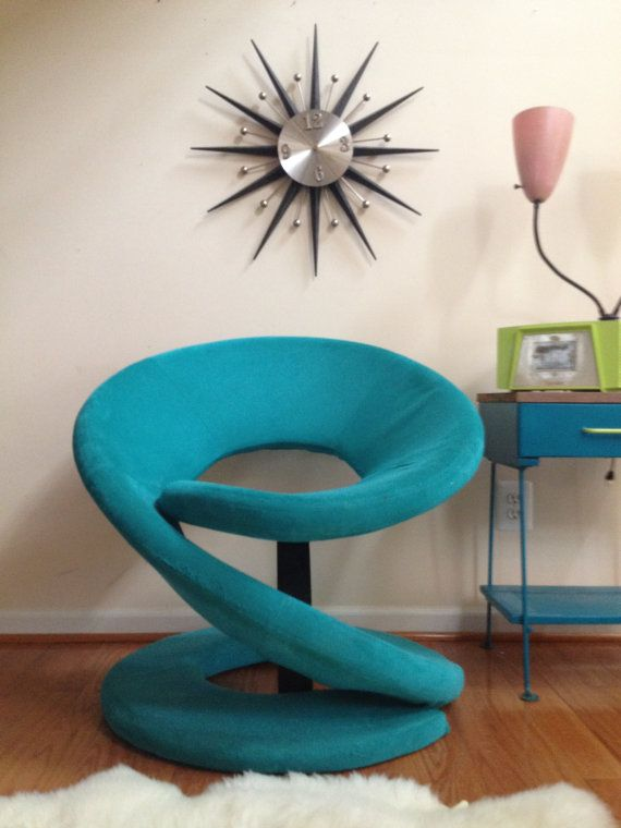 Funky Retro Chair MODERN accent by ParacosmVintage on Etsy, $185.00
