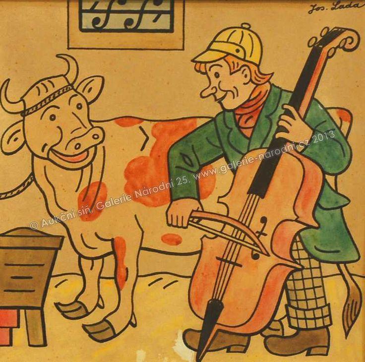 Franta Rasů (Kalamajka) | akvarel, tuš na papíře, 21 × 21 cm