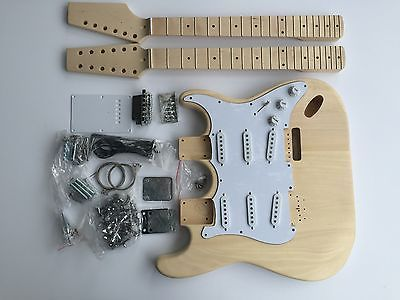 NEW DIY Electric Guitar Kit – Double Neck 6 String 12 String Guitar
