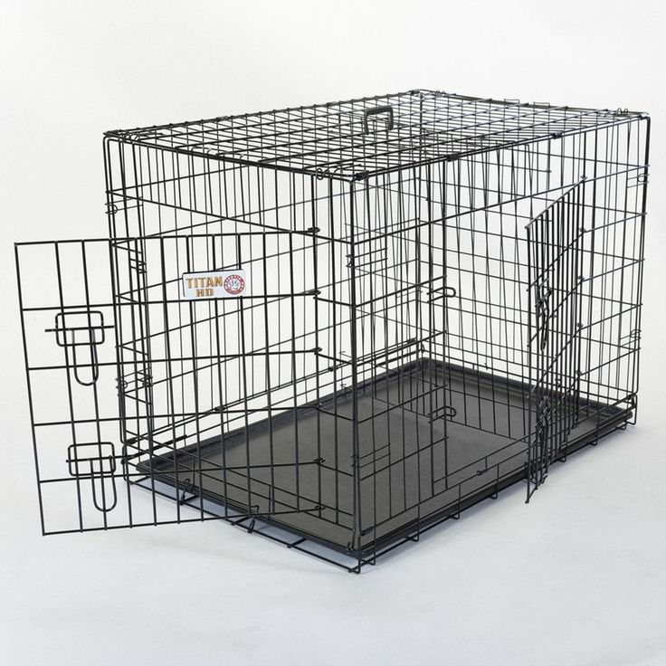 Majestic Pet Products Double Door Small Folding Dog Crate Cage