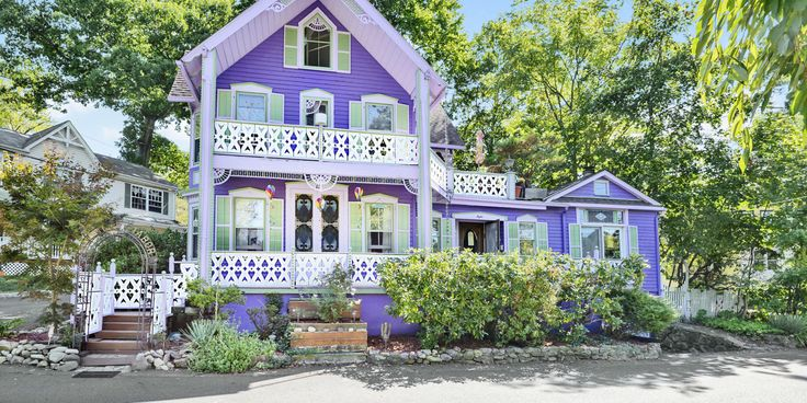"Giving directions to your home is that much easier when you're the ""big purple house at the end of the street."""