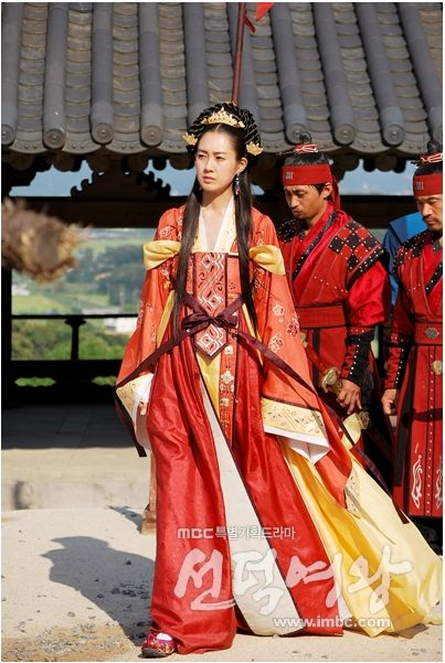Queen Seondeok(Hangul:선덕여왕;RR:Seondeok Yeowang) is a 2009South Koreanhistorical drama as part ofMBCtelevision network 48th-founding anniversary special drama, starringLee Yo-won,Go Hyun-jung,Uhm Tae-woong,Park Ye-jin,Kim Nam-gilandYoo Seung-ho. It chronicles the life ofQueen Seondeok of Silla. It aired onMBCfrom 25 May to 22 December 2009 on Mondays and Tuesdays at 21:55 for 62 episodes.