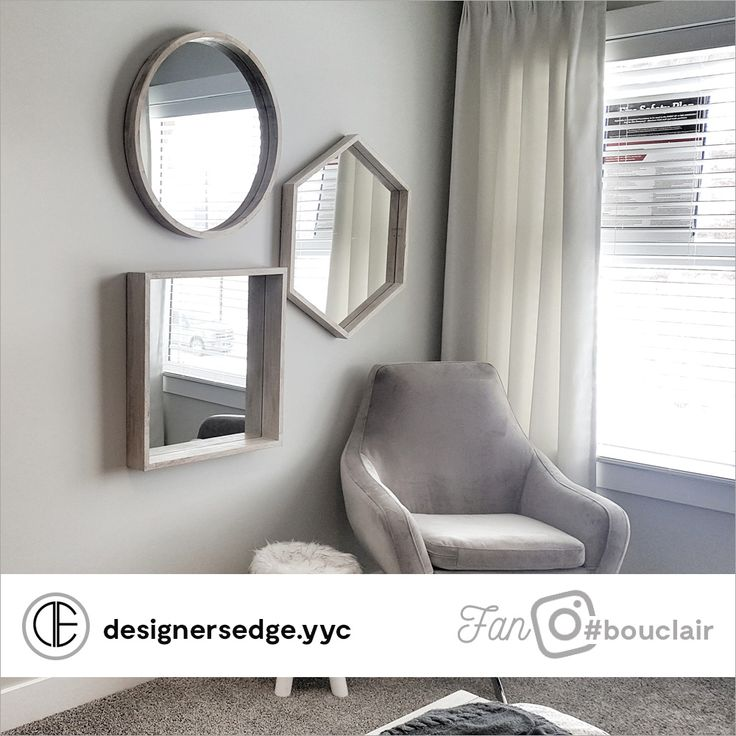 Square Wood Frame Mirror