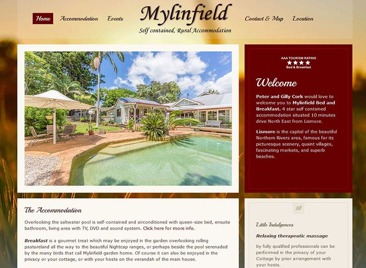 Brochure style website for accommodation.…