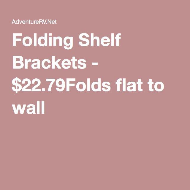 folding shelf brackets 2279folds flat to wall