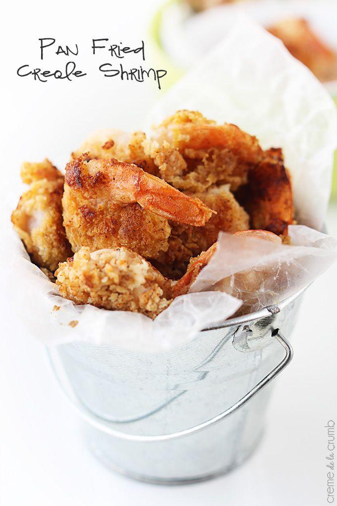 Pan Fried Creole Shrimp + Dipping Sauce