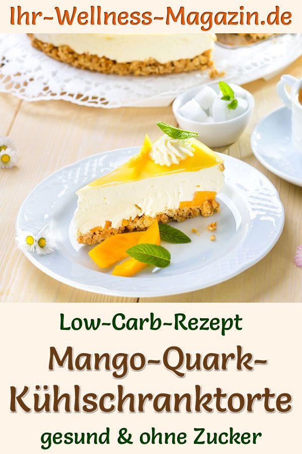 Low Carb Mango Quark Kuhlschranktorte Rezept Ohne Zucker In 2020 Rezepte Low Carb Rezepte Joghurttorte