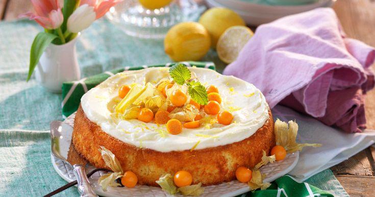 Glutenfri citronkaka med frosting – recept