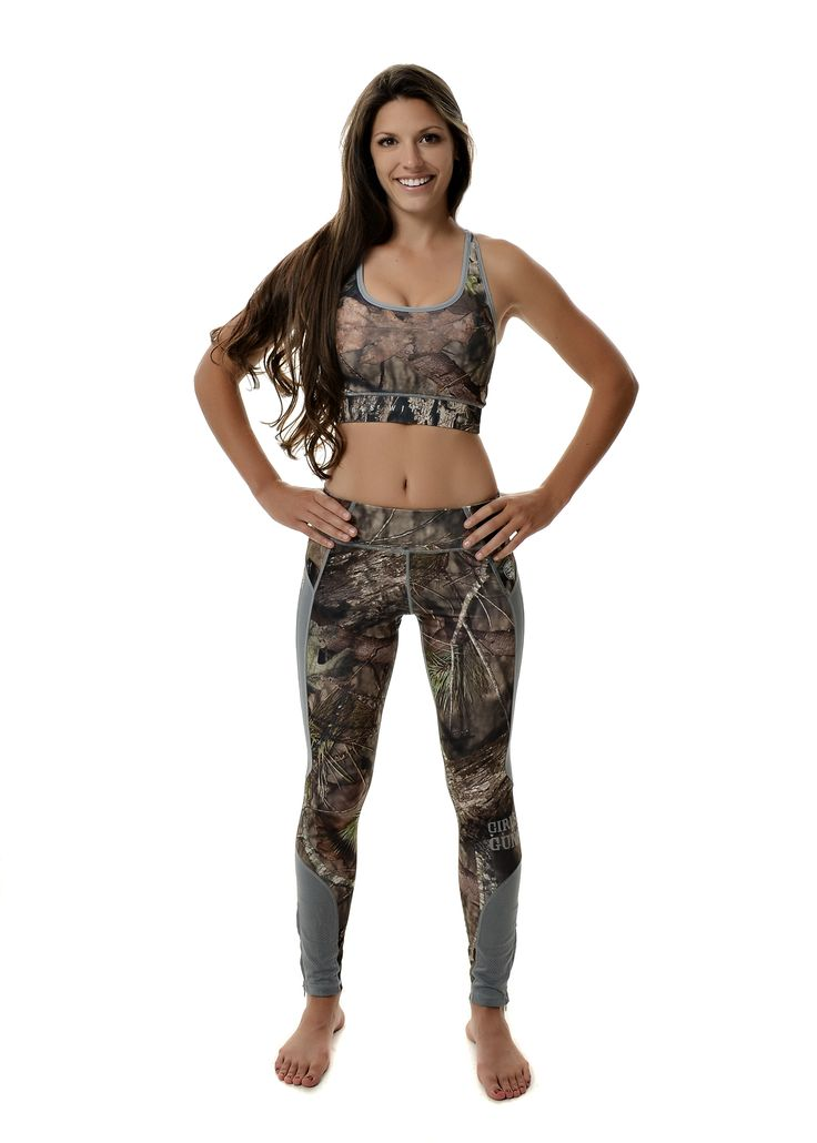 Take your training to the next level with the Girls With Guns Athletic Apparel in Mossy Oak camo, featuring sports bras and running and yoga pants!