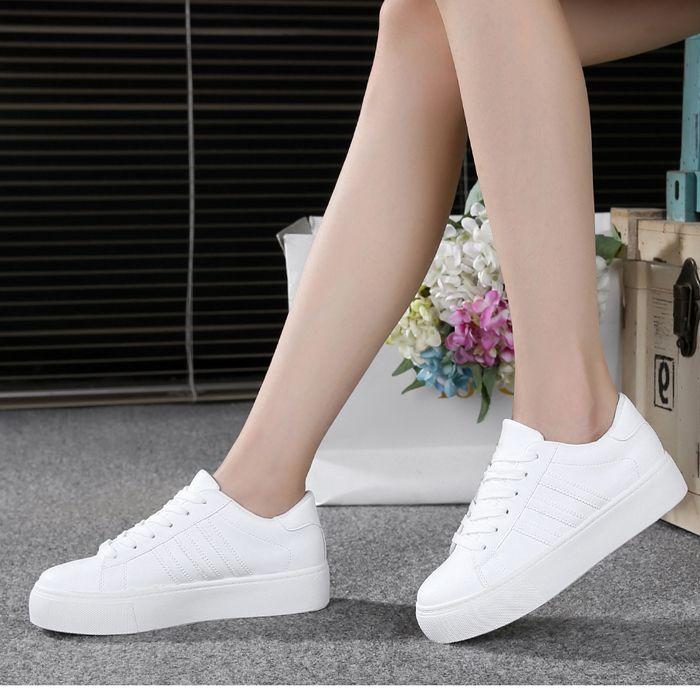 Grosso branco e o vento no outono de 2016 novos s bolinho ocasional branco tênis running shoes em Calçados Casuais das mulheres de Sapatos no AliExpress.com | Alibaba Group