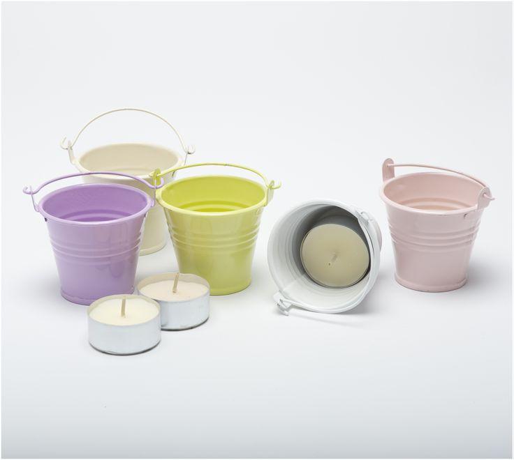 Galvanised Coloured Painted Metal Buckets