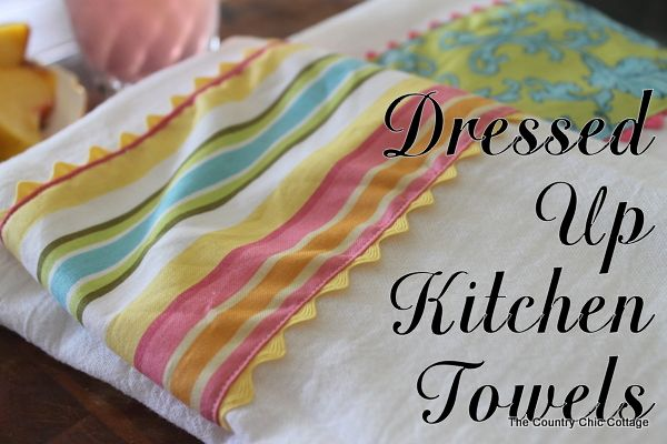 Dressed Up Kitchen Towels -- The Pinterest Challenge ~ * THE COUNTRY CHIC COTTAGE (DIY, Home Decor, Crafts, Farmhouse): Cottage Diy, Kitchens, Dressed Up Kitchen Towels Jpg, Decor Crafts, Challenges, Crafts Project Ideas, Country Chic Cottage, Crafts Diy
