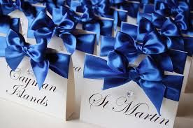 royal blue wedding table - Google Search