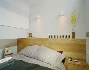klein appartement slaapkamer idee