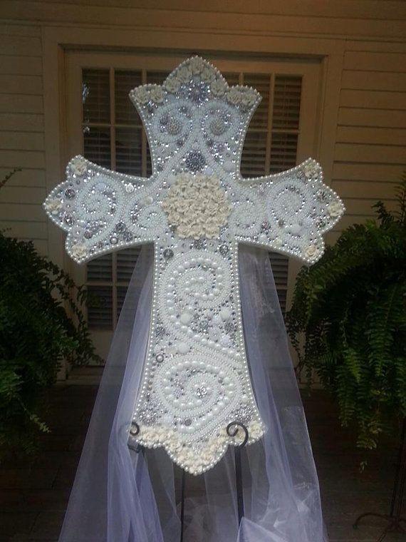 Mosaic Wedding Cross by Broken Beauty by BrokenBeautyMosaics, $899.00
