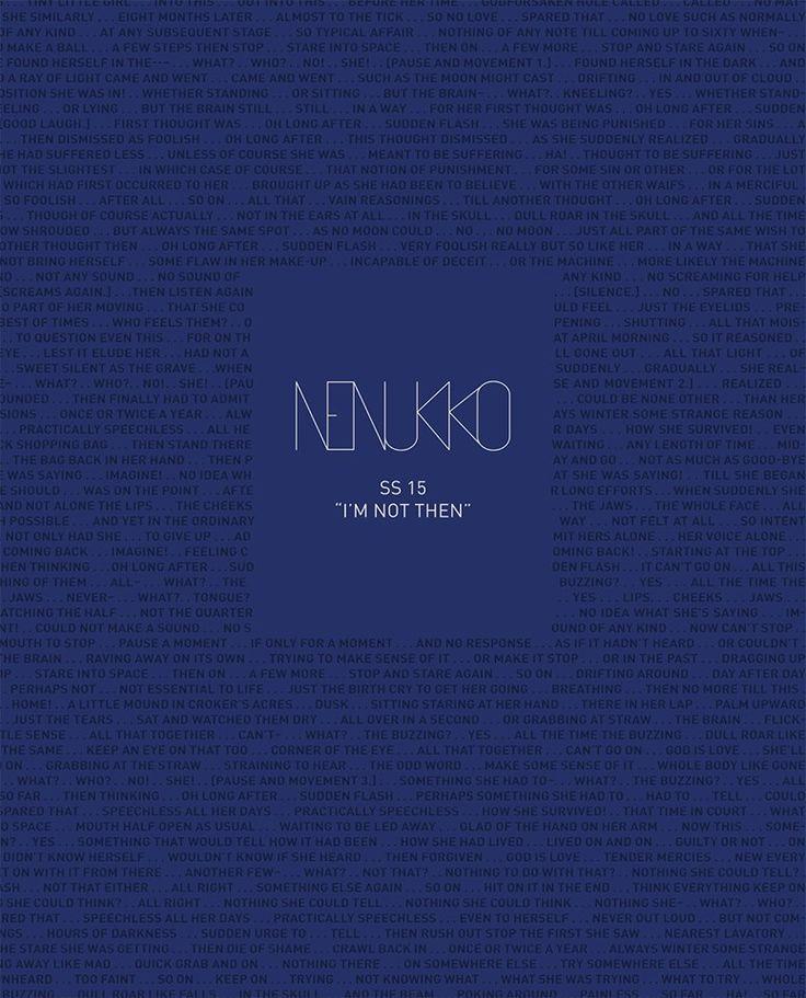 Nenukko I'm Not Then SS 2015 Lookbook