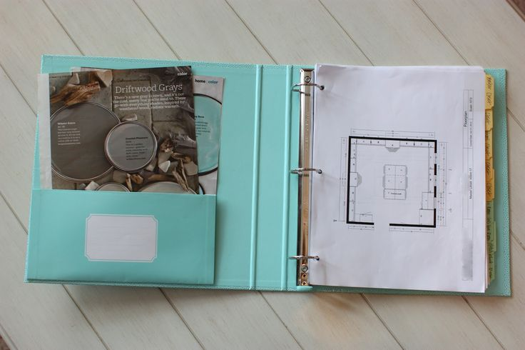 Home construction & decor binder / Sunny Side Up: New House Update/Organized Binder