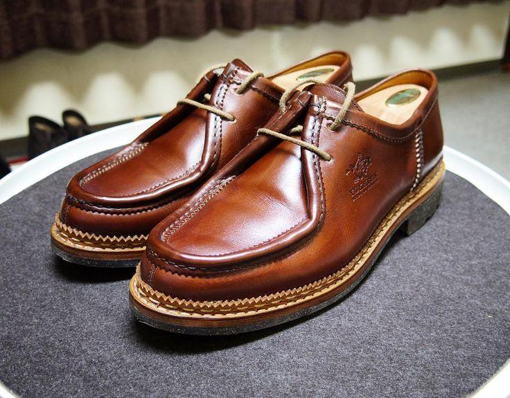 YUKETEN  Heschung  この靴は当たりでしたギザ入りのストームウエルトも気に入ってます #yuketen #heschung #shoes #mensshoes #shoecare #ユケテン #エシュン #紳士靴 #革靴 #靴磨き #シューケア