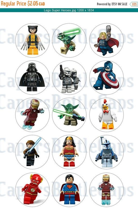 Check out this item in my Etsy shop https://www.etsy.com/ca/listing/255135134/holiday-sale-lego-superhero-bottle-cap