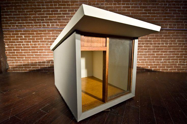 mid century modern dog house