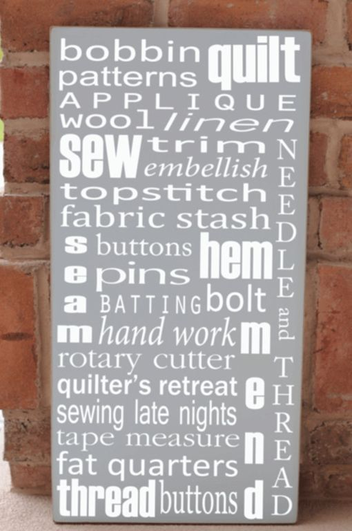 quilters sign....need this for the quilt room!