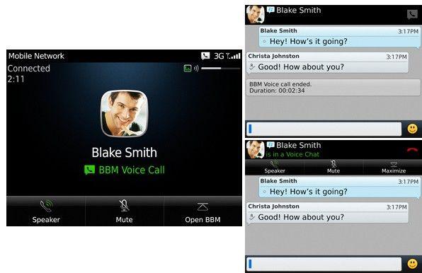 BlackBerry Messenger 7 incorporates VoIP calls